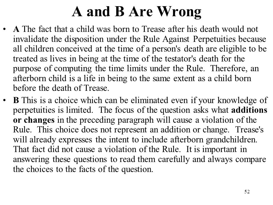 A and B Are Wrong