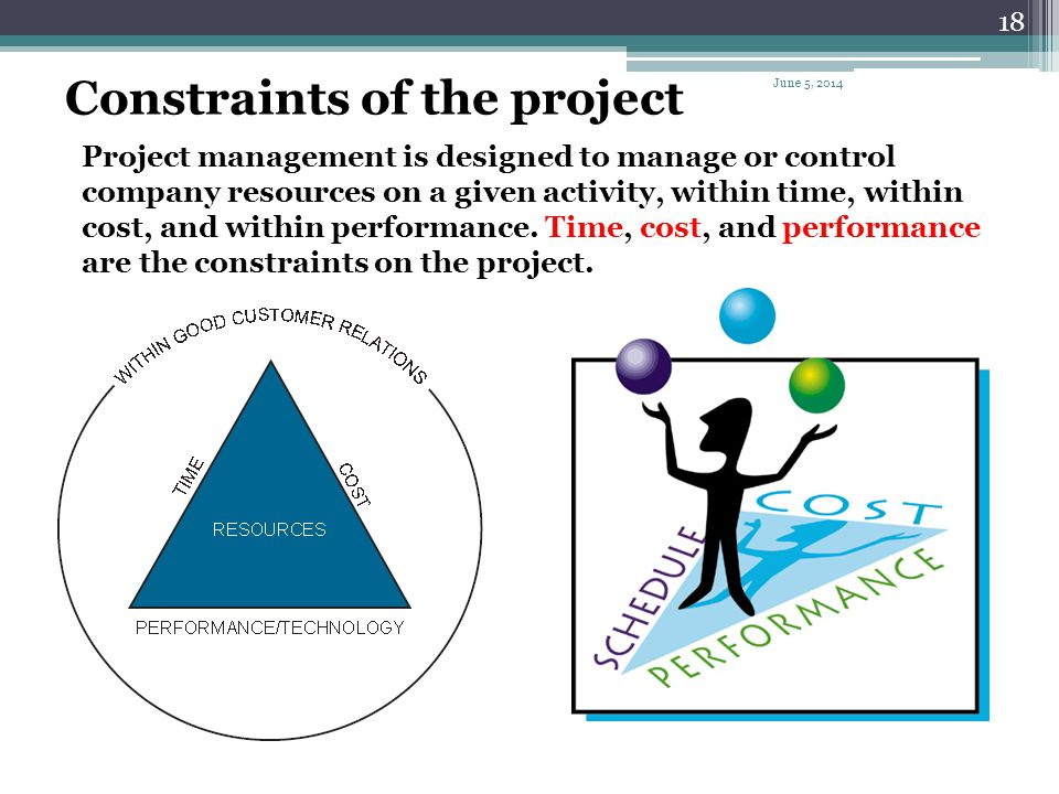 Constraints of the project