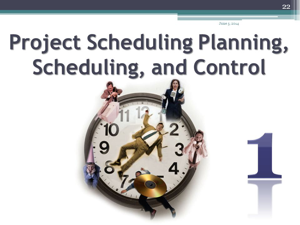 Project Scheduling Planning, Scheduling, and Control