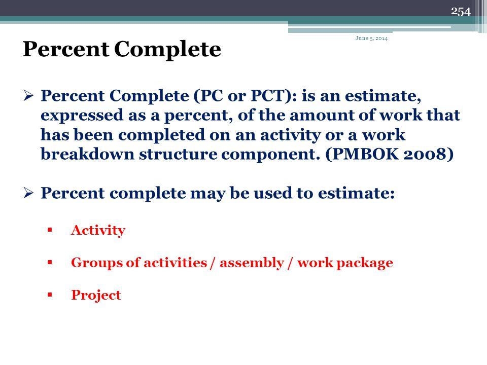Percent Complete April 1, 2017.