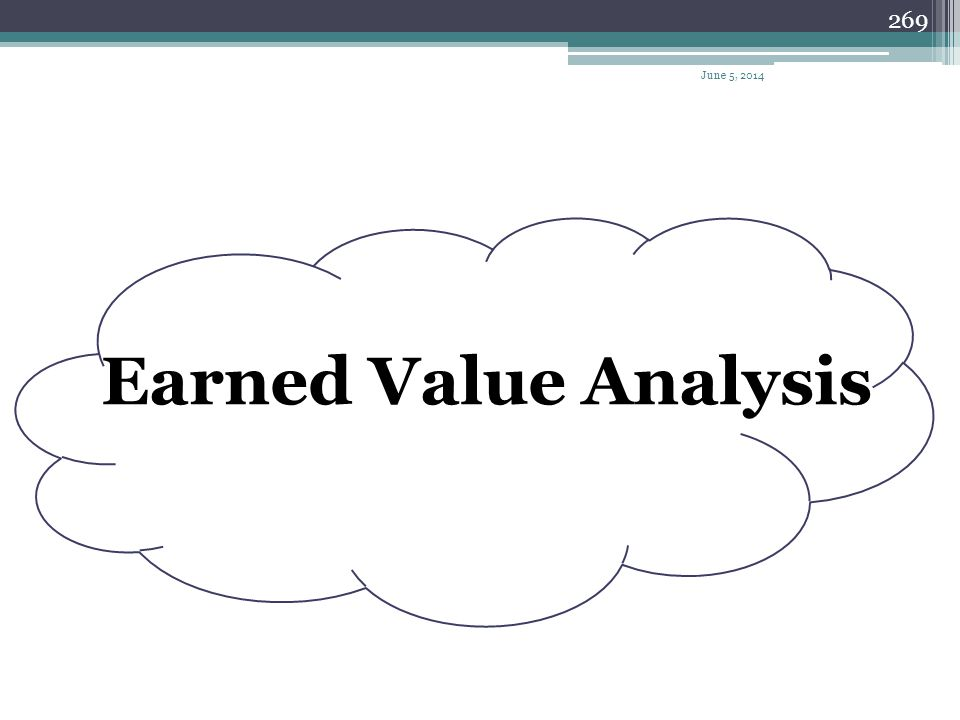 April 1, 2017 Earned Value Analysis