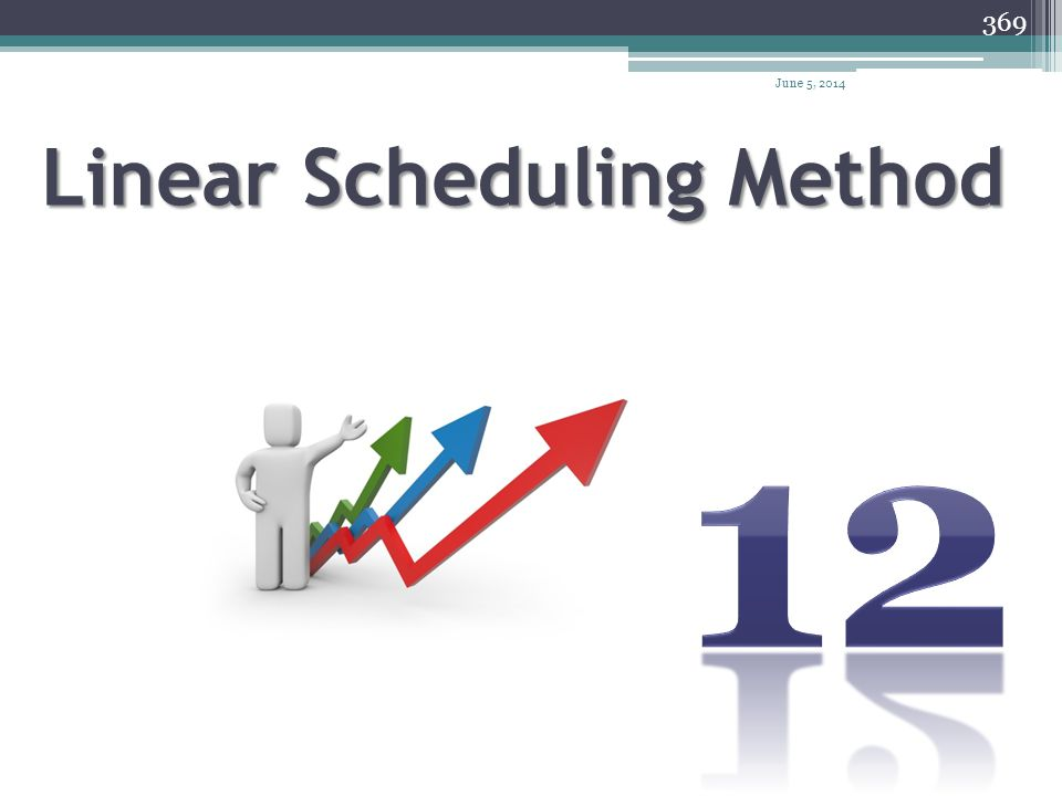 April 1, 2017 Linear Scheduling Method 12