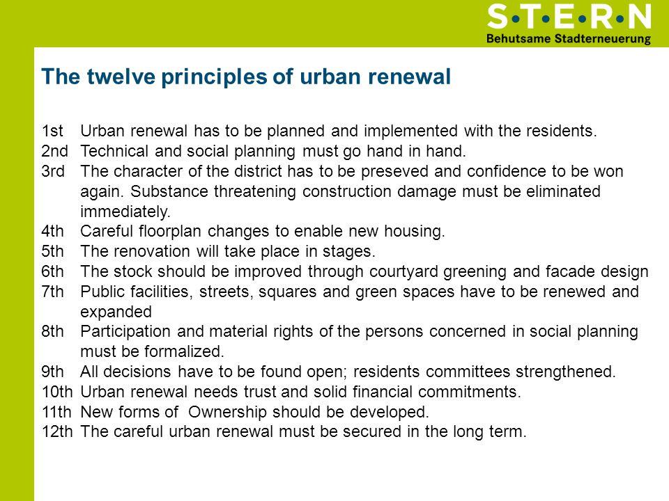 The twelve principles of urban renewal