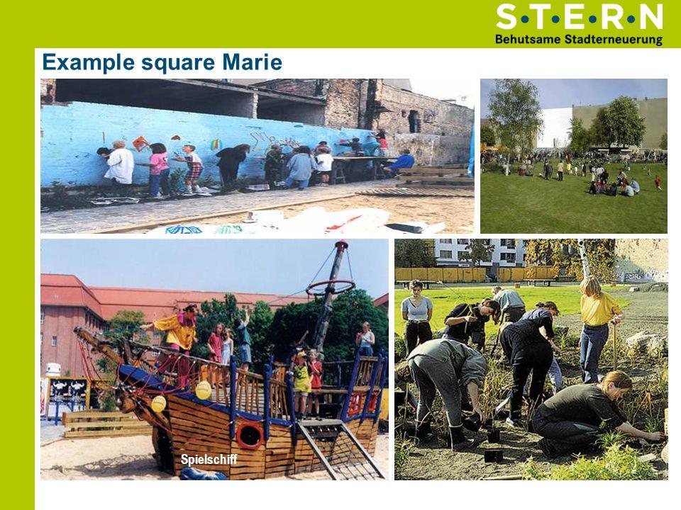 Example square Marie Kinder-Wandbild Himmel Volkspark Spielschiff