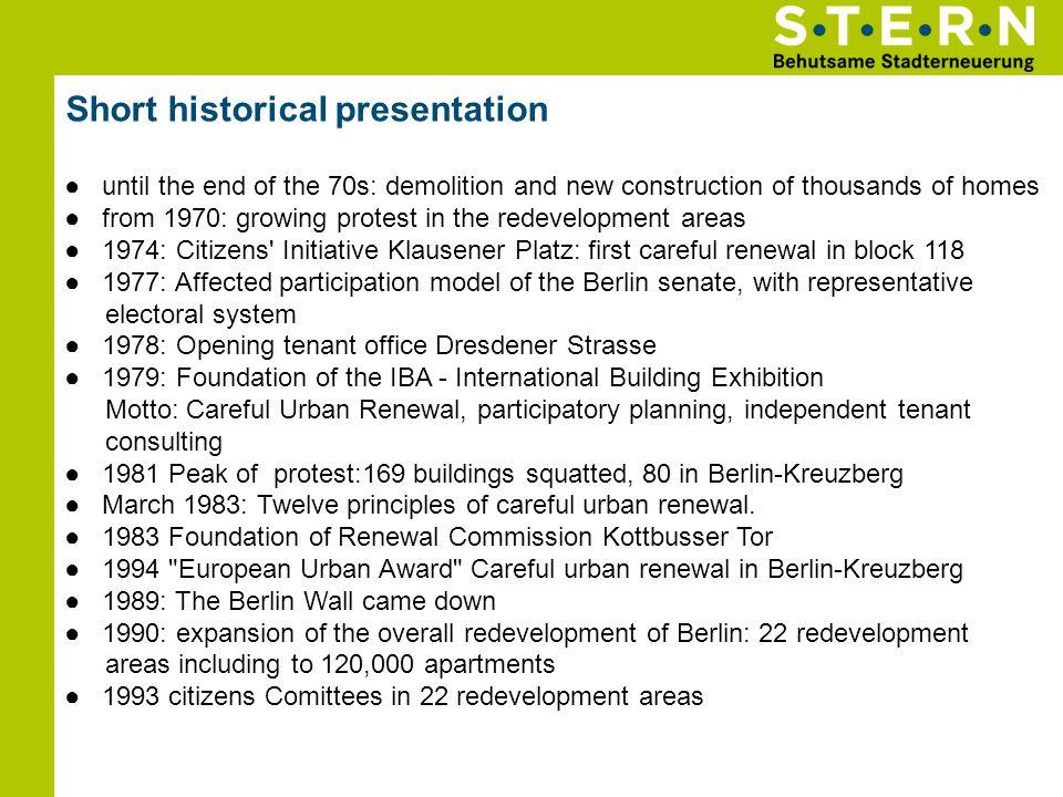 Short historical presentation