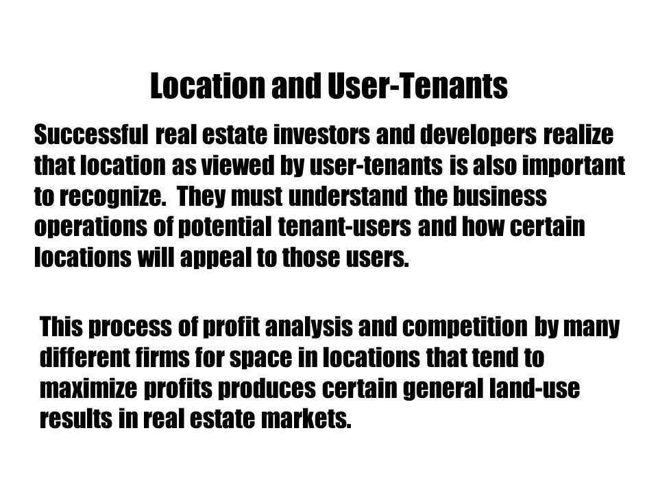 Location and User-Tenants