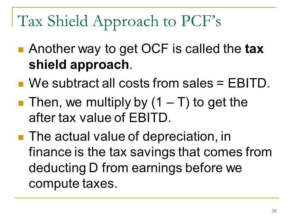 Tax Shield Approach to PCF's