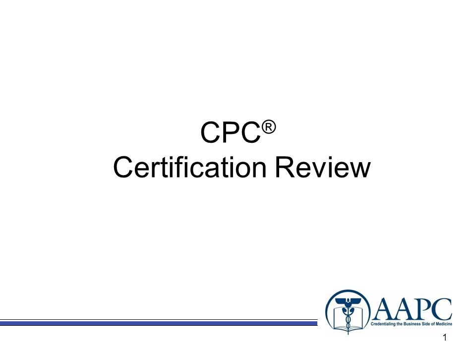CPC® Certification Review