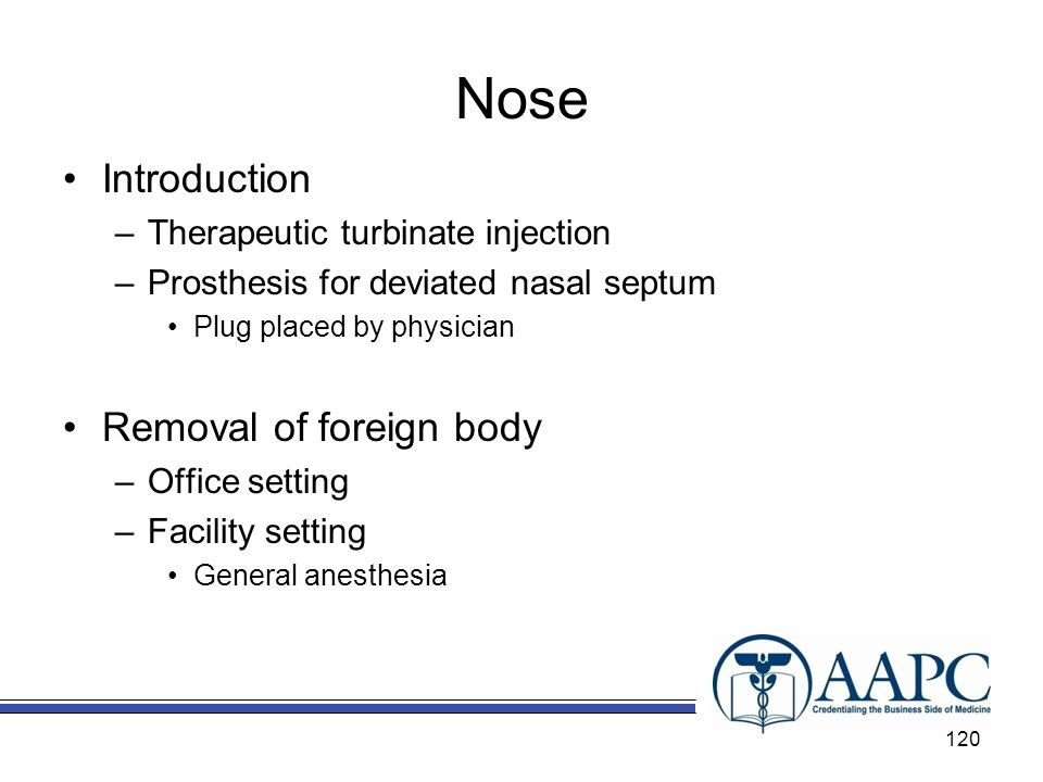 Nose Introduction Removal of foreign body