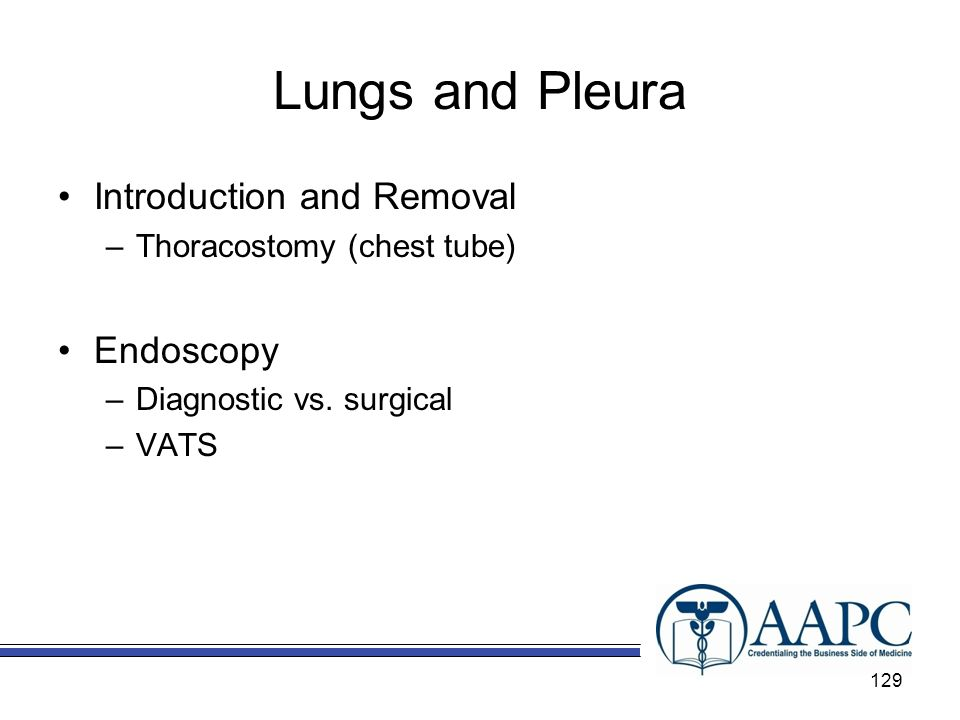 Lungs and Pleura Introduction and Removal Endoscopy