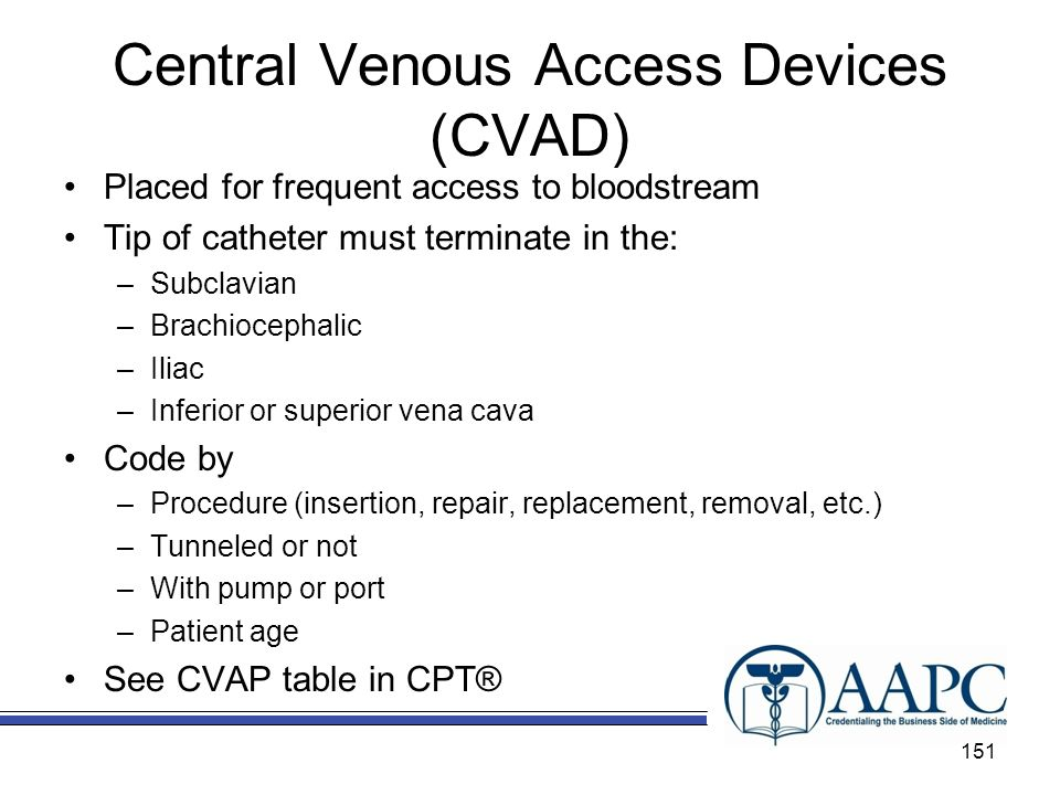 Central Venous Access Devices (CVAD)