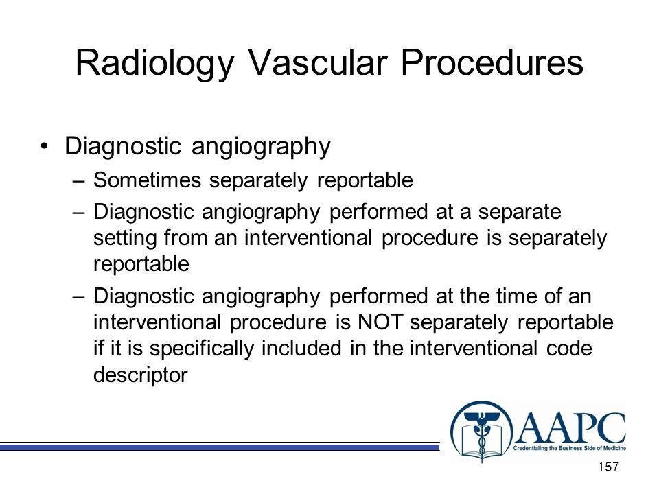 Radiology Vascular Procedures