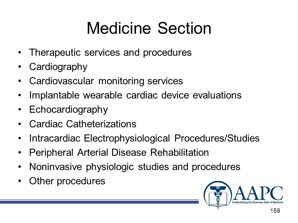 Medicine Section Therapeutic services and procedures Cardiography