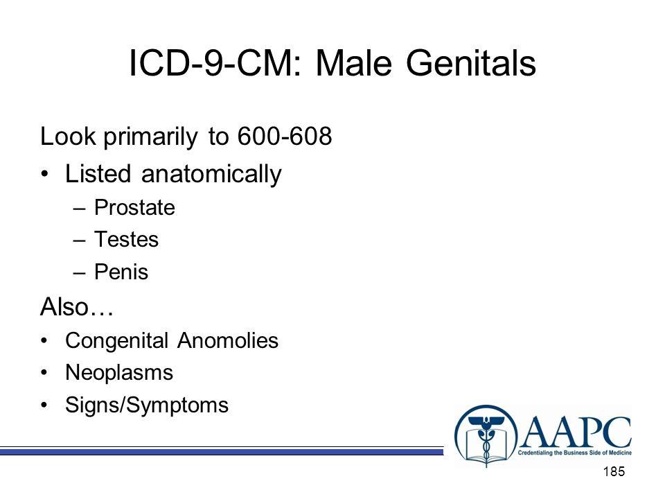 ICD-9-CM: Male Genitals
