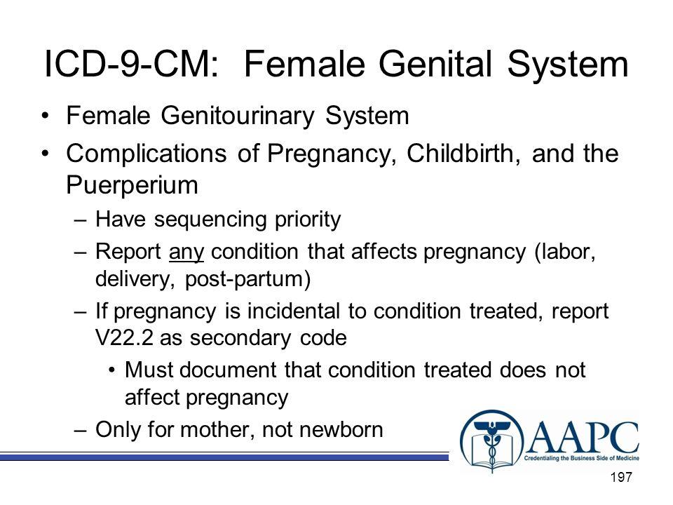ICD-9-CM: Female Genital System