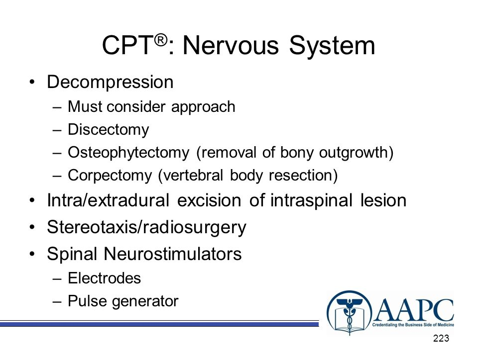 CPT®: Nervous System Decompression