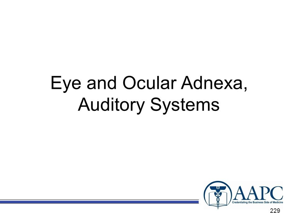 Eye and Ocular Adnexa, Auditory Systems