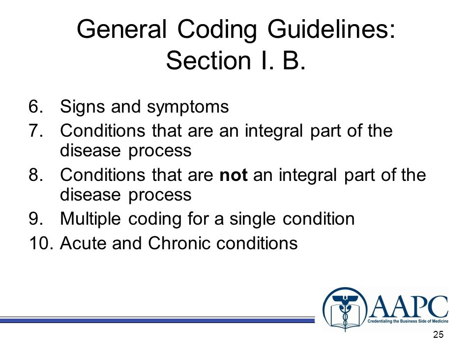 General Coding Guidelines: Section I. B.