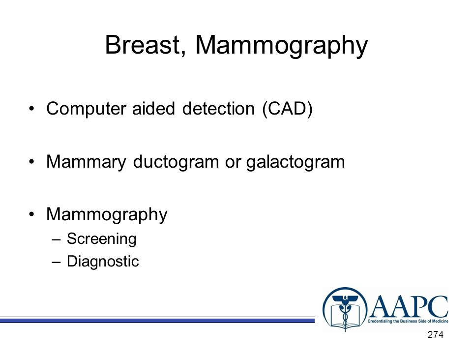 Breast, Mammography Computer aided detection (CAD)