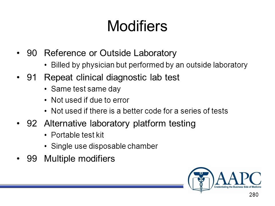 Modifiers 90 Reference or Outside Laboratory