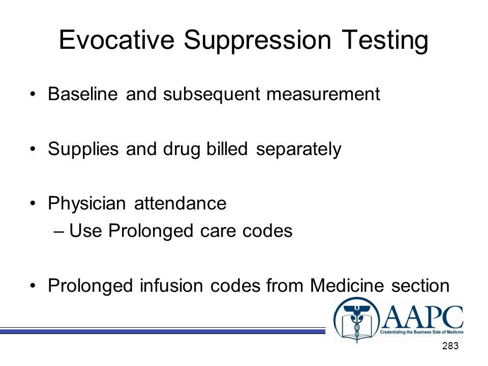 Evocative Suppression Testing