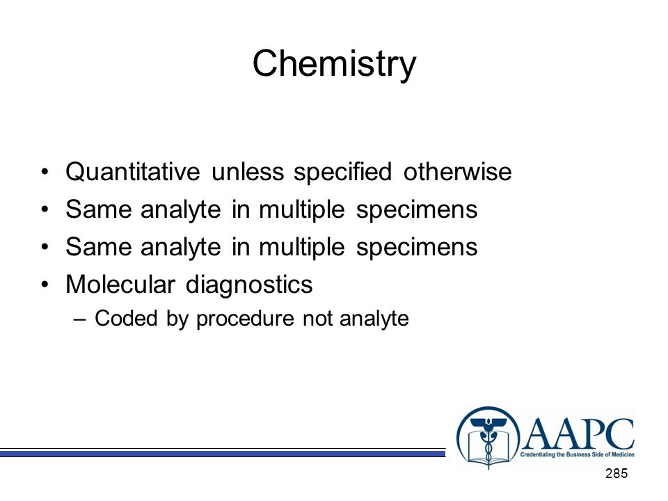 Chemistry Quantitative unless specified otherwise