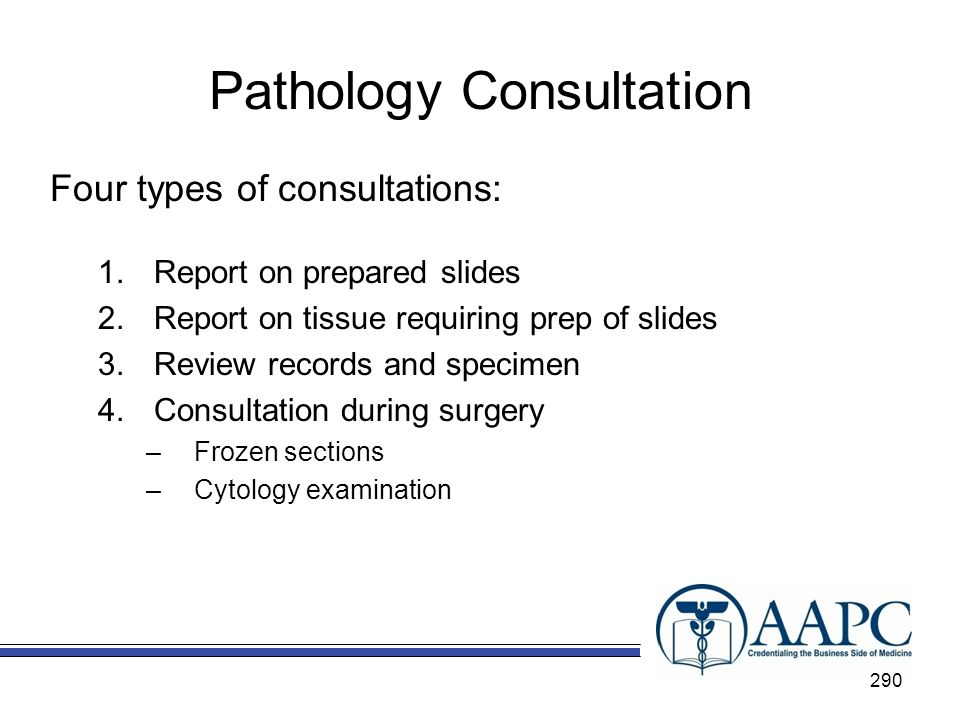 Pathology Consultation
