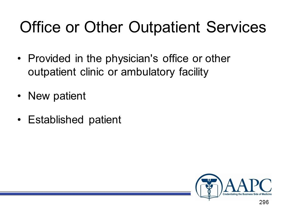 Office or Other Outpatient Services