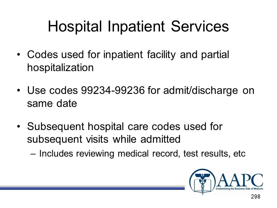 Hospital Inpatient Services