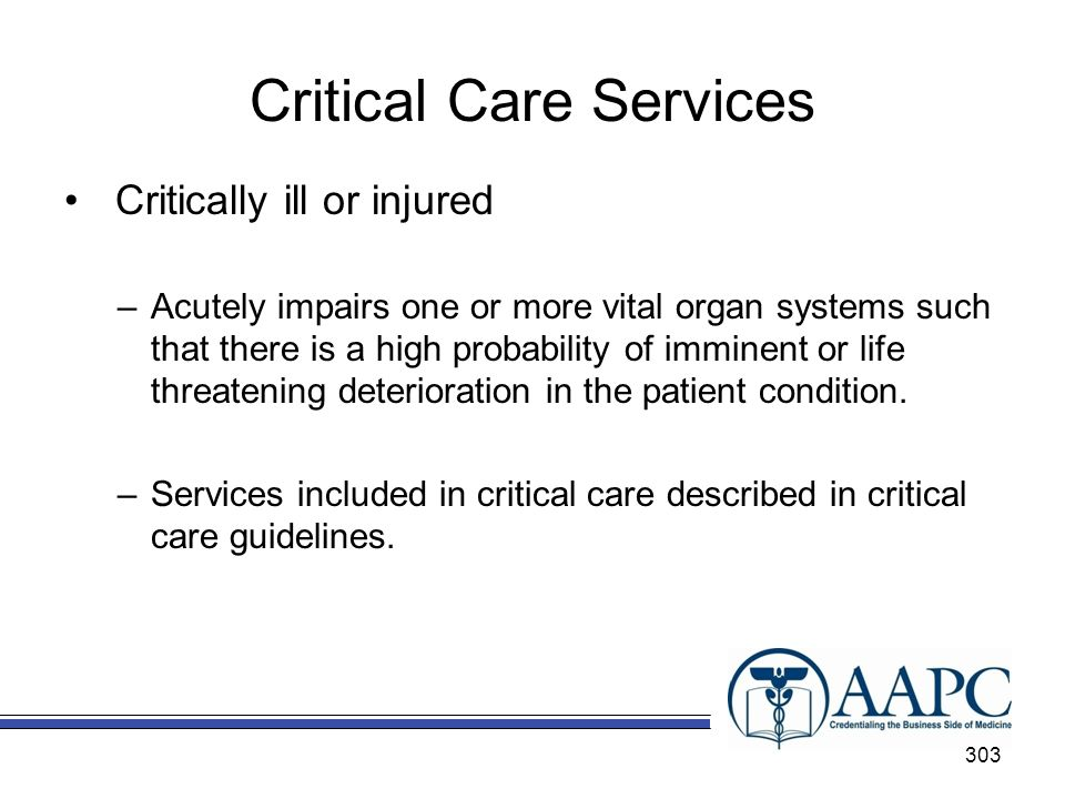 Critical Care Services