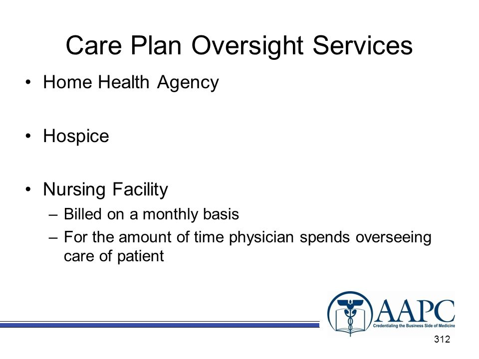 Care Plan Oversight Services