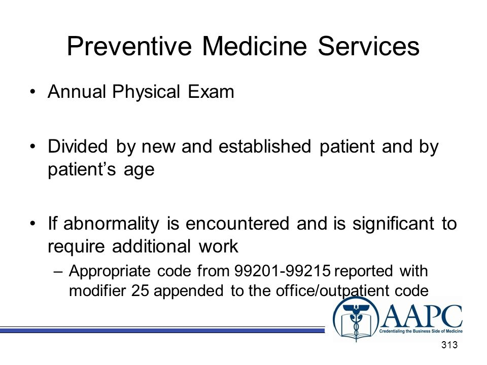 Preventive Medicine Services