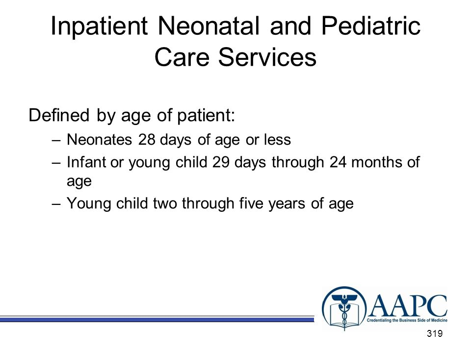 Inpatient Neonatal and Pediatric Care Services