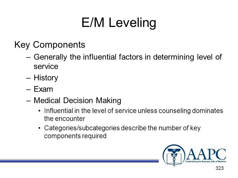 E/M Leveling Key Components