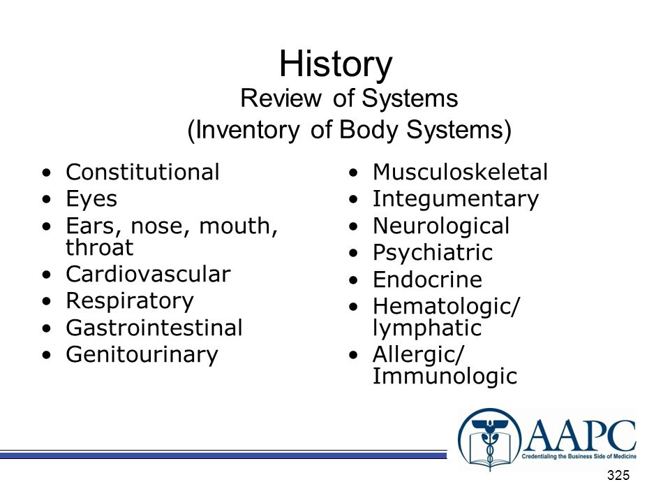 (Inventory of Body Systems)