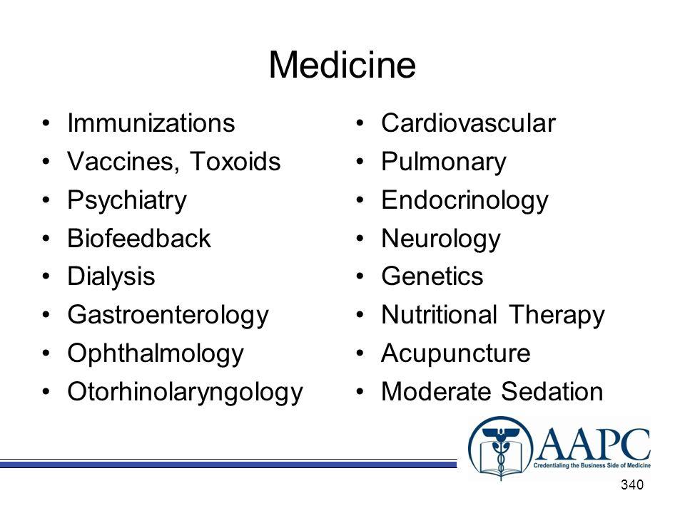 Medicine Immunizations Vaccines, Toxoids Psychiatry Biofeedback