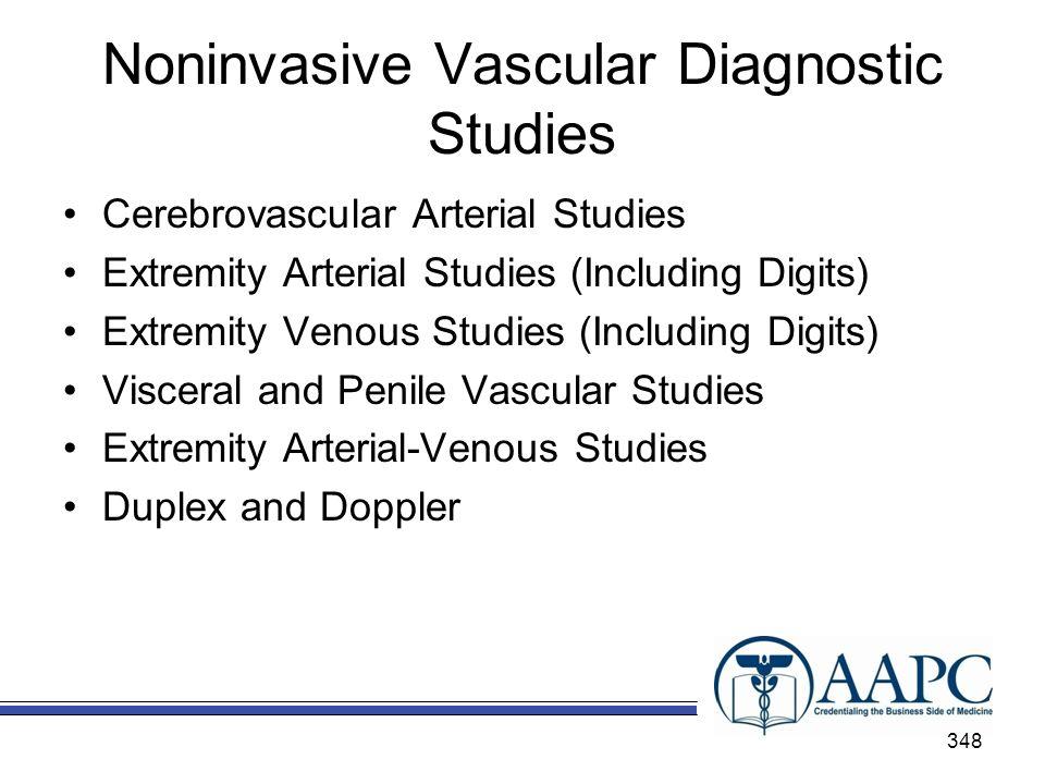 Noninvasive Vascular Diagnostic Studies