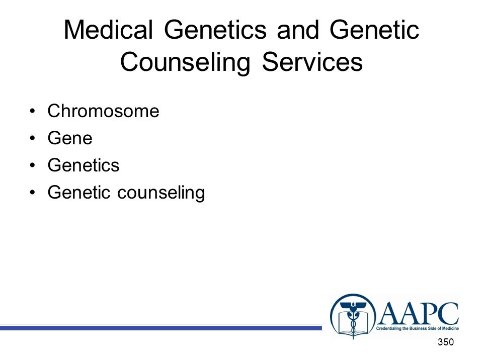 Medical Genetics and Genetic Counseling Services