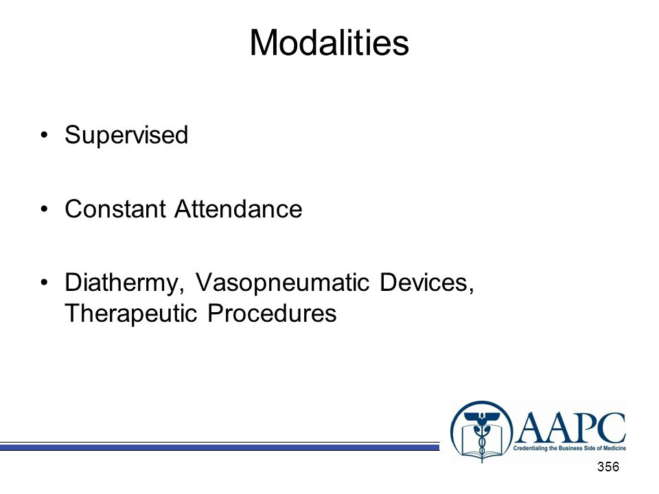 Modalities Supervised Constant Attendance