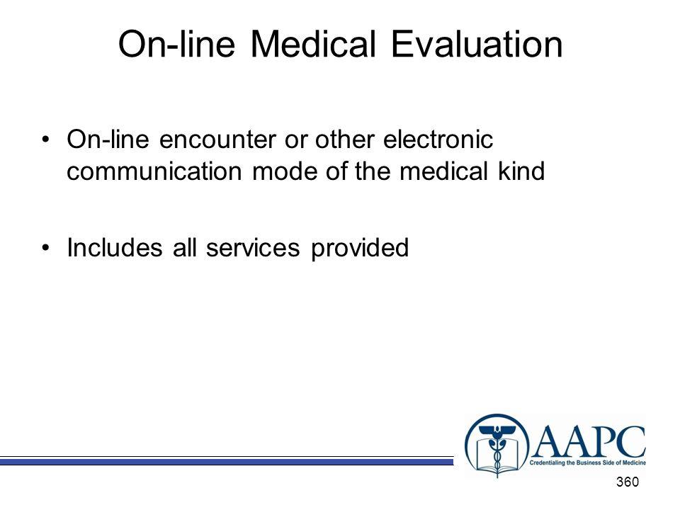 On-line Medical Evaluation