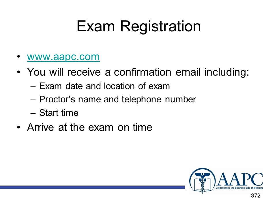 Exam Registration www.aapc.com