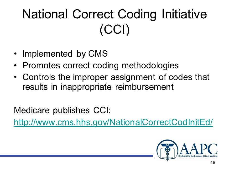 National Correct Coding Initiative (CCI)