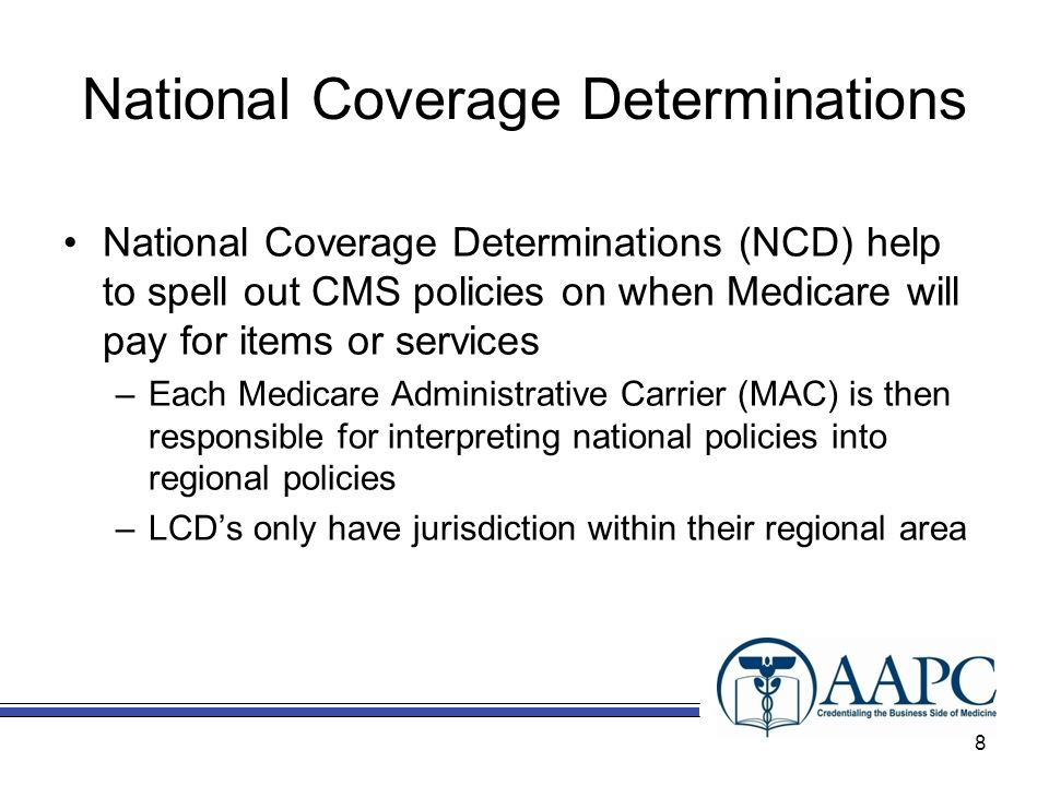 National Coverage Determinations