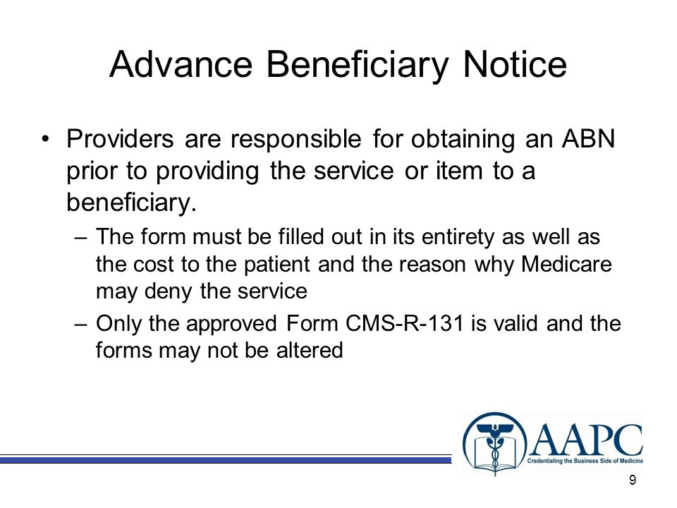 Advance Beneficiary Notice