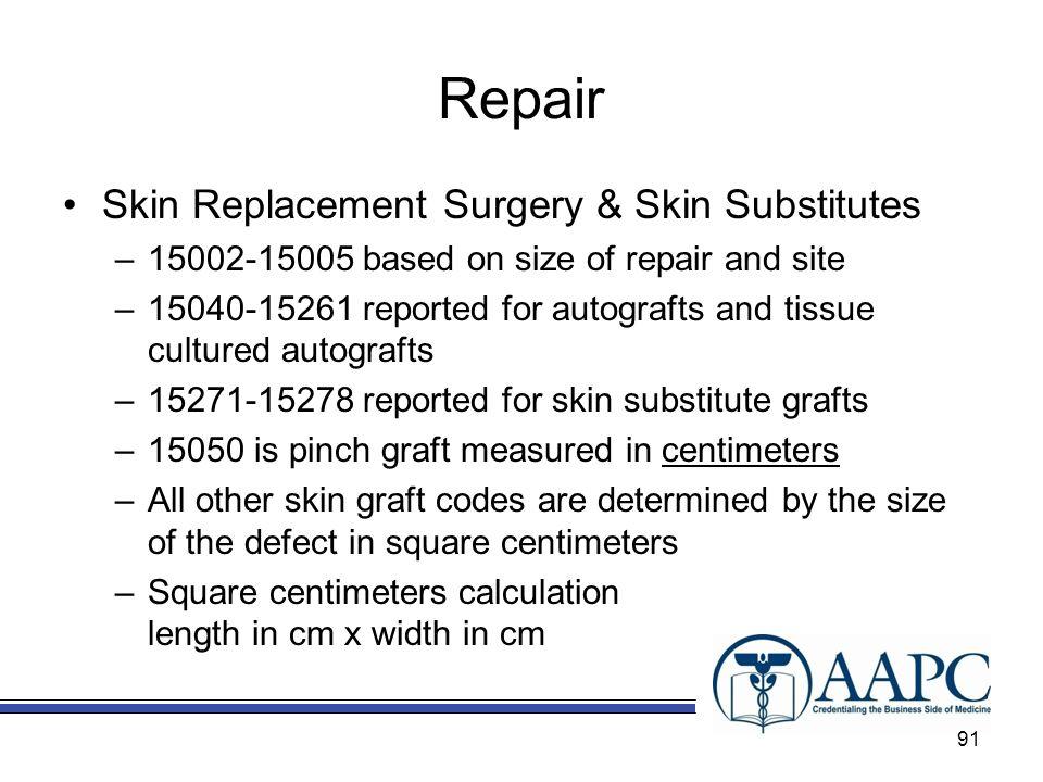 Repair Skin Replacement Surgery & Skin Substitutes