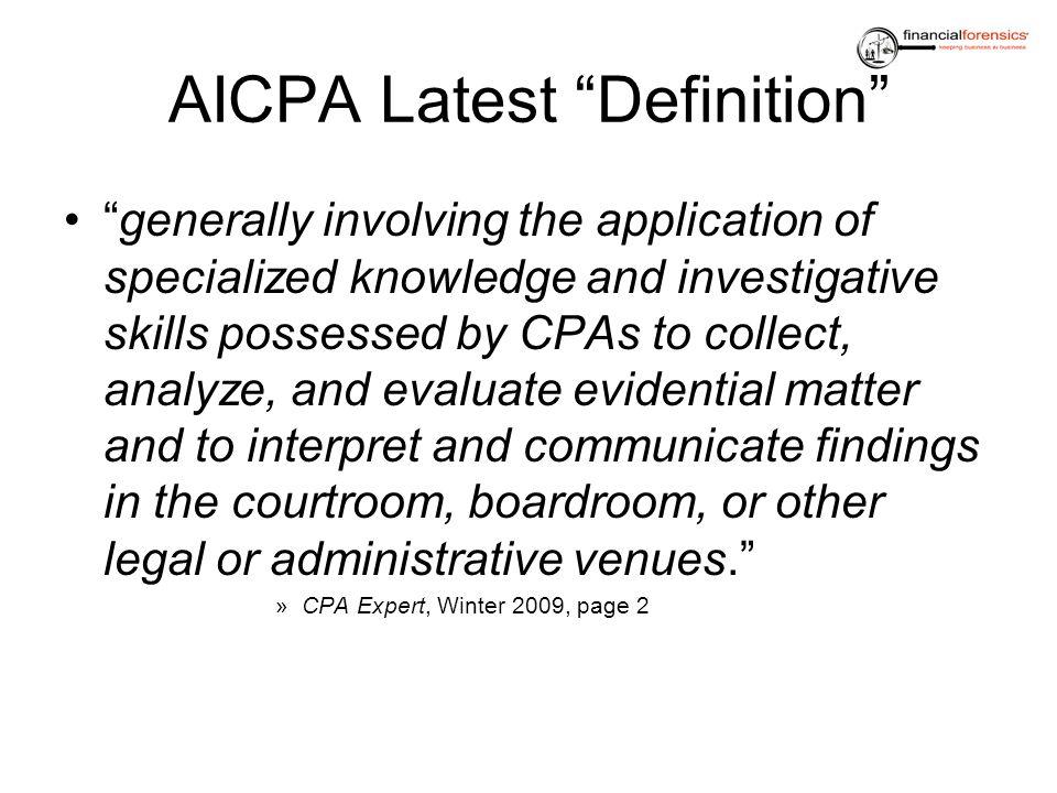 AICPA Latest Definition
