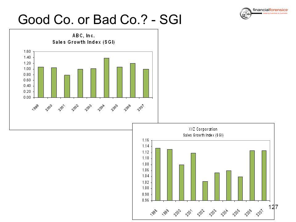 Good Co. or Bad Co. - SGI
