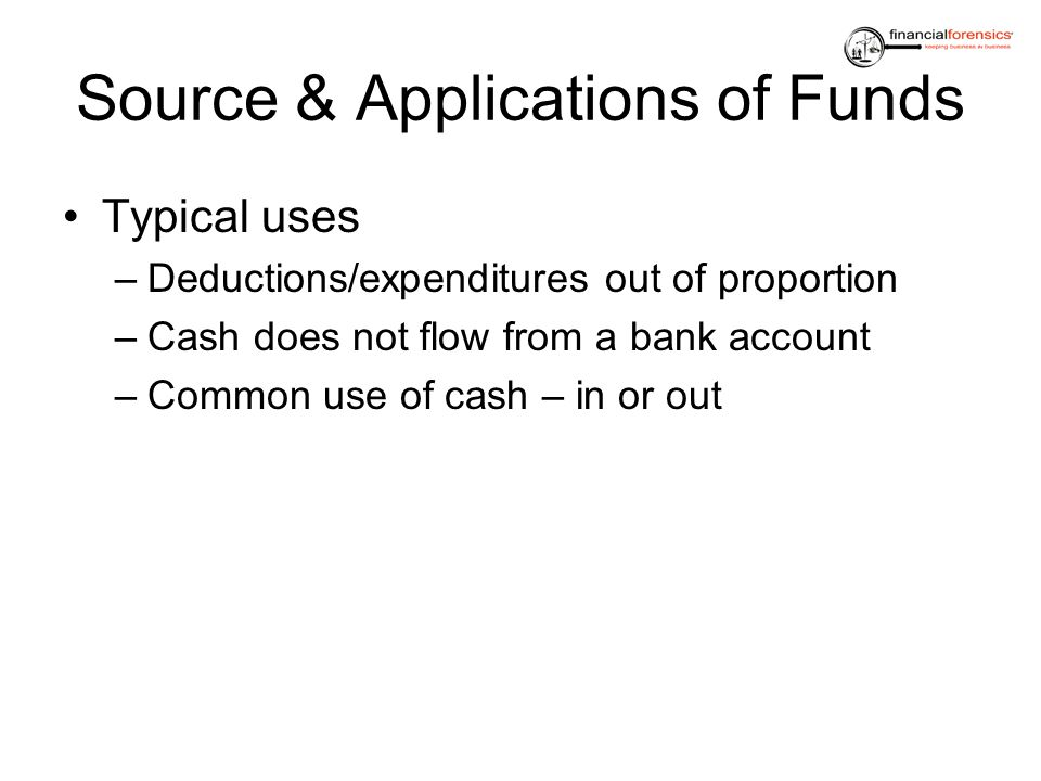 Source & Applications of Funds