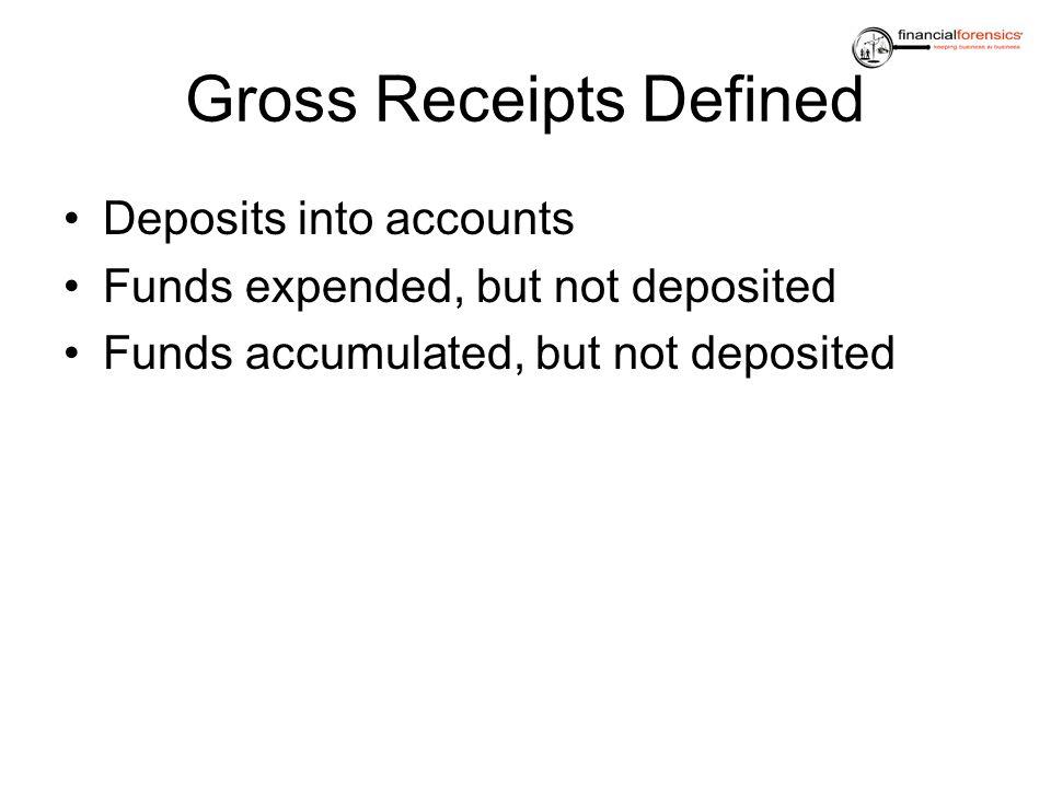 Gross Receipts Defined
