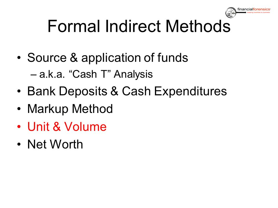 Formal Indirect Methods